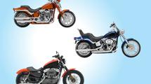 3 modelos de motos realistas