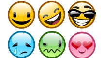 6 Smileys