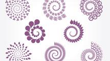 8 espirales violetas