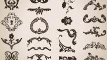 Adornos caligráficos
