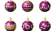 Adornos de Navidad violetas