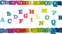 Alfabeto 3D multicolor