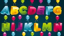 Alfabeto con globos