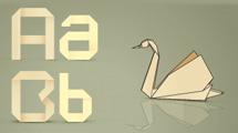 Alfabeto origami
