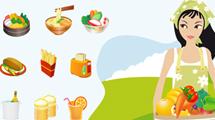 Alimentos y objetos de cocina