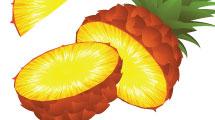 Ananá entero y cortado