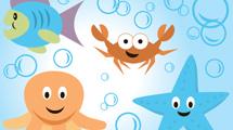 Animales marinos sonrientes