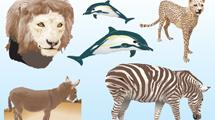 Animales realistas en vector