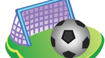 Arco de fútbol y pelota
