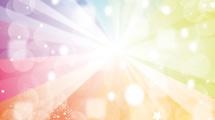 Arco iris transparente en colores