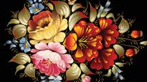 Arreglo floral pintado