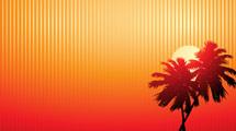 Atardecer a rayas con palmera