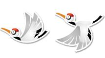 Aves en vuelo estilo sticker