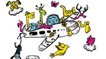 Avión con animales