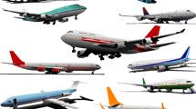 Aviones realistas en grupo