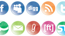Badges con iconos sociales