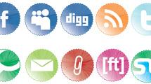 Badges con iconos sociales