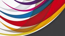 Banner abstracto con curvas en punta