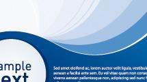 Banner abstracto de ondas azules