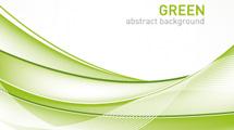 Banner abstracto verde y blanco
