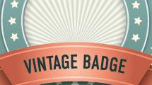 Banner circular vintage pastel
