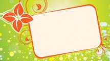 Banner con borde y flores naranjas