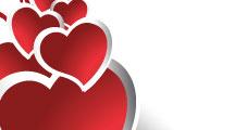Banner con corazones