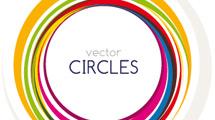 Banner con círculos de color