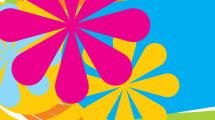 Banner floral multicolor