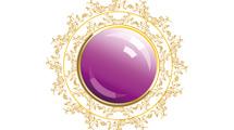 Banner glossy violeta