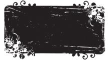 Banner grunge negro