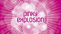 Banner rosa brillante