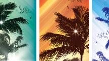 Banners con palmeras