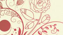Banners florales vintage en pastel
