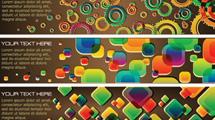 Banners variados abstractos