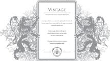 Banners vintage con adornos ornamentales