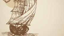 Barco antiguo vintage