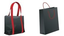 Bolsas negras con rojo