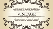 Borde ornamental vintage con texto