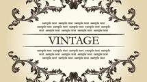 Borde ornamental vintage con texto