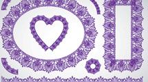 Bordes victorianos violetas