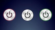 Botón de encendido fluorescente