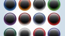 Botones glossy negros