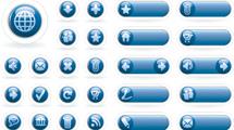 Botones para sitios web azules