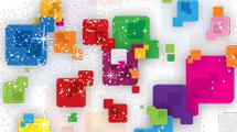 Brillantes cuadros de colores