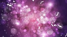Brillo y burbujas violetas