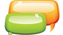 Burbujas de diálogo en dos colores