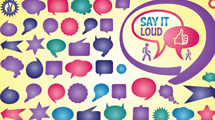 Burbujas de texto a puro color