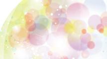 Burbujas transparentes a color