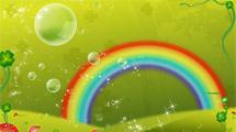 Burbujas y arco iris